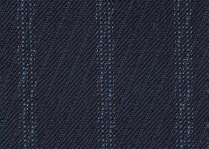 French Navy Rhadame Twill with Blue Stripe