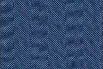 Mid Blue Herringbone