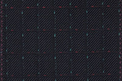 Dark Navy with Green & Red Dot check