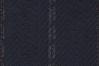 Navy chevron twill with wide white stripe