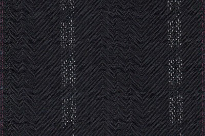 Black chevron twill with wide white stripe