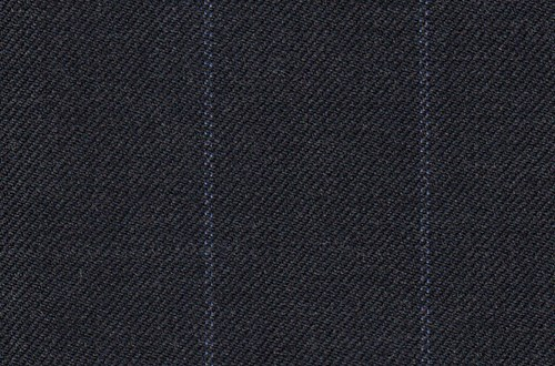 Dark Grey with Blue chalk stripe