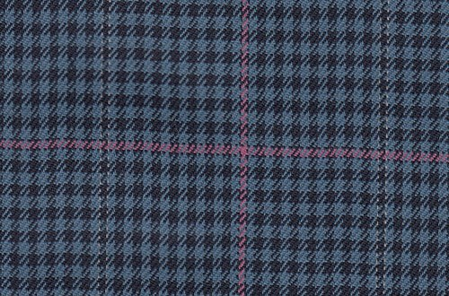 Blue/Black check with pink overcheck