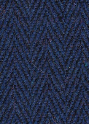 Blue/Black Herringbone