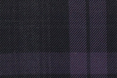 Black with purple & grey check