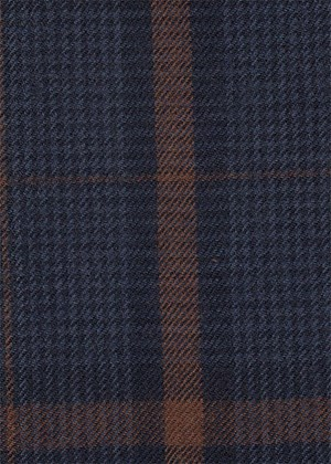 Blue with Navy & Brown check