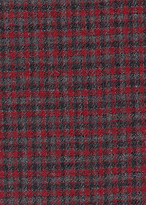 Grey & Red Micro check
