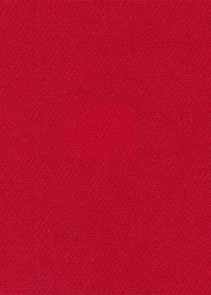 Plain Bright Red Twill