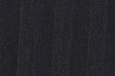 Grey Herringbone with orange pin stripe