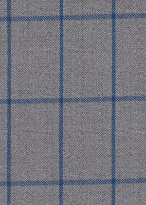 Light Grey with Bright Blue Check