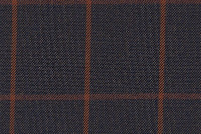 Navy with Orange Check