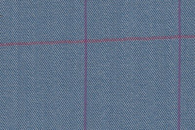 Light Blue Herringbone with Pink & Purple Check