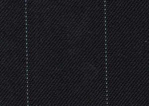 Black with pale blue wide pin stripe