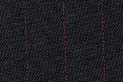 Black with Red pin stripe