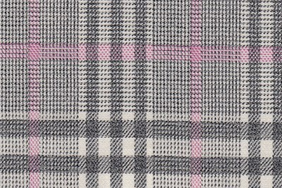 Ivory with Grey and pink check