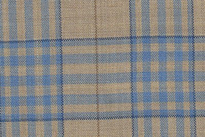 Wheat with light blue check