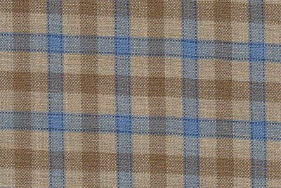 Wheat with tan and light blue check