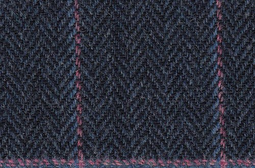 Blue/Grey herringbone w/pink/lt blue windowpane