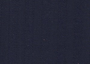 Navy Herringbone Style Self Stripe